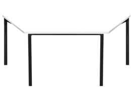 Melamine Trapezoidal Table
