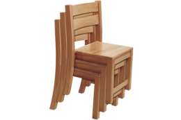 Rubberwood Stackable Chair QF001R