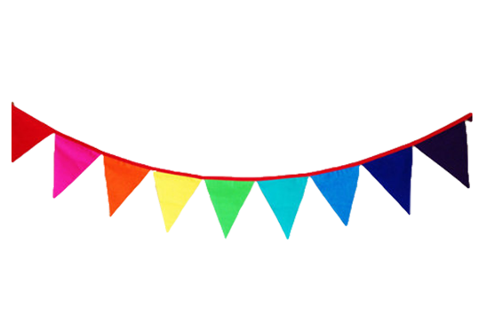Child Care Supplies - Large Rainbow Bunting Flags