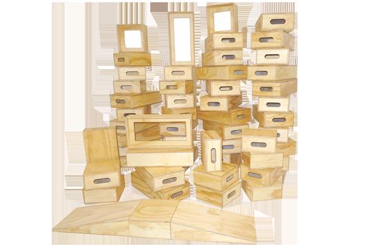 Outdoor Hollow Wooden Blocks