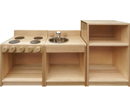 Hardwood Toddler Kitchen Set THCSET