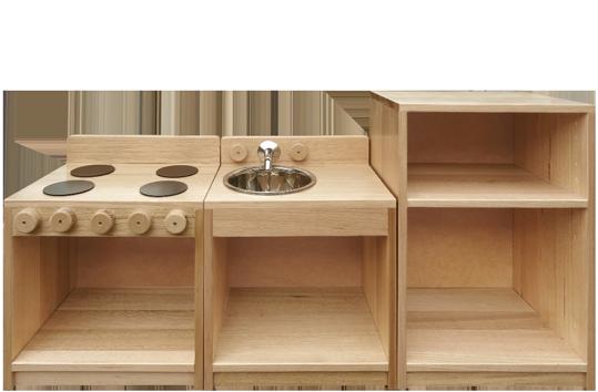 Hardwood Toddler Kitchen Set THCSET