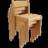 Oak Stackable Chair