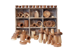 Loose Parts And Tray Wooden Toys