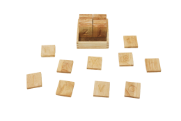 wooden spelling and writing set