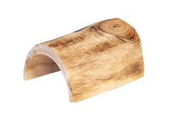 half log wooden toy