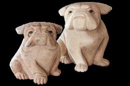 Wooden Bulldog Decor