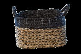 Plainted Black Basket Decor